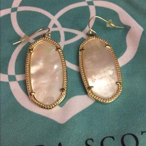 Kendra Scott Ivory Mother of Pearl/Gold Elles